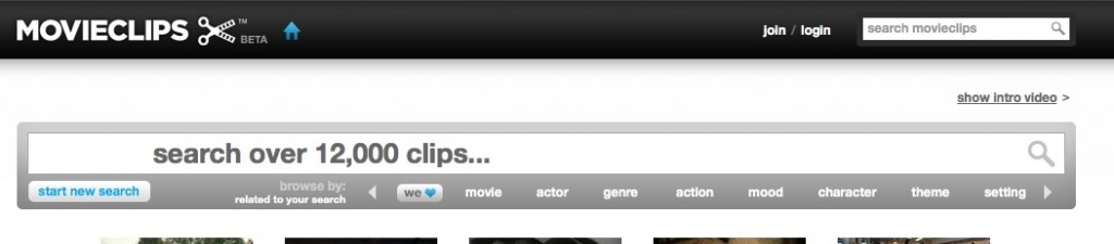 Searching on MovieClips.com